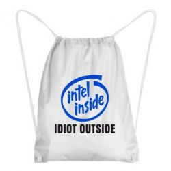 Рюкзак-мешок Intel inside, idiot outside - FatLine