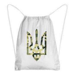 Рюкзак-мешок Камуфляжный герб Украины - FatLine