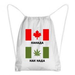 Рюкзак-мешок Канада Как надо - FatLine