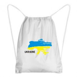 Рюкзак-мешок Карта України з написом Ukraine - FatLine