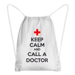 Рюкзак-мешок KEEP CALM and CALL A DOCTOR - FatLine