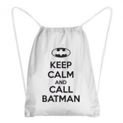 Рюкзак-мешок KEEP CALM and CALL BATMAN - FatLine