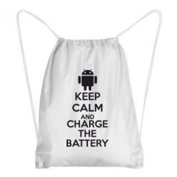 Рюкзак-мешок KEEP CALM and CHARGE BATTERY