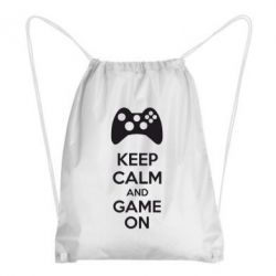 Рюкзак-мешок KEEP CALM and GAME ON - FatLine