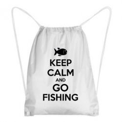 Рюкзак-мешок Keep Calm and go fishing - FatLine