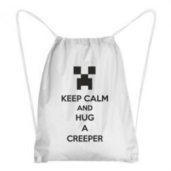 Рюкзак-мешок KEEP CALM and HUG A CREEPER