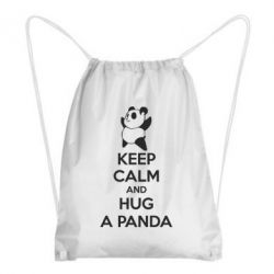 Рюкзак-мешок KEEP CALM and HUG A PANDA - FatLine