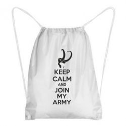 Рюкзак-мешок KEEP CALM and JOIN MY ARMY - FatLine