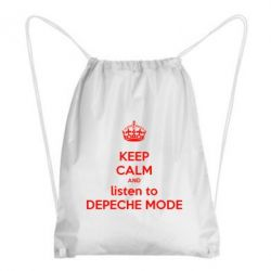 Купить Рюкзак-мешок KEEP CALM and LISTEN to DEPECHE MODE, FatLine