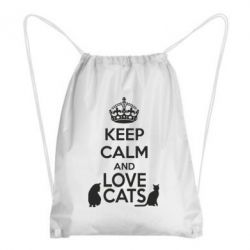 Рюкзак-мешок KEEP CALM and LOVE CATS - FatLine