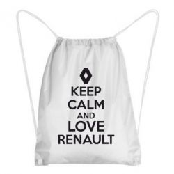 Рюкзак-мешок KEEP CALM AND LOVE RENAULT - FatLine