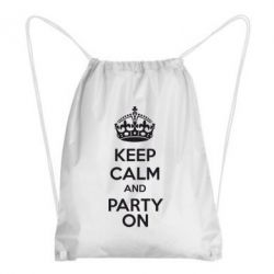Рюкзак-мешок KEEP CALM and PARTY ON - FatLine