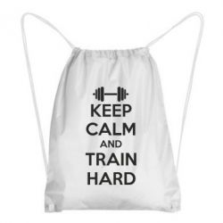 Рюкзак-мешок KEEP CALM and TRAIN HARD - FatLine