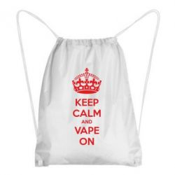 Рюкзак-мешок KEEP CALM and VAPE ON
