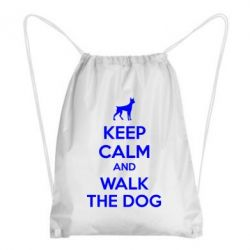 Рюкзак-мешок KEEP CALM and WALK THE DOG - FatLine