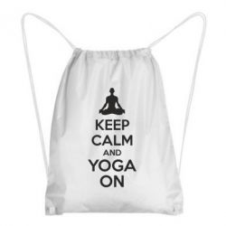 Рюкзак-мешок KEEP CALM and YOGA ON