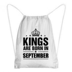 Рюкзак-мешок Kings are born in September, FatLine  - купить со скидкой