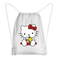 Рюкзак-мешок Kitty с букетиком - FatLine