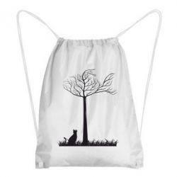 Рюкзак-мешок Кот прыгает на дерево - FatLine