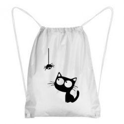 Рюкзак-мешок Котик и паук - FatLine