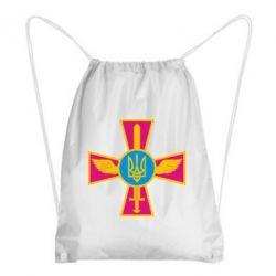 Рюкзак-мішок Хрест з мечем та гербом