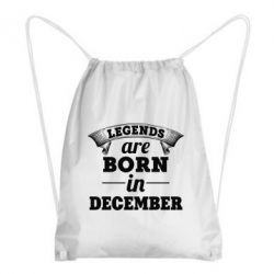 Рюкзак-мешок Legends are born in December