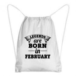 Рюкзак-мешок Legends are born in February