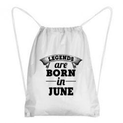 Купить Рюкзак-мешок Legends are born in June, FatLine