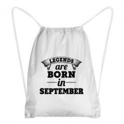 Купить Рюкзак-мешок Legends are born in September, FatLine