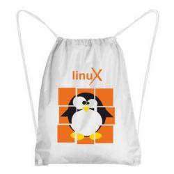Рюкзак-мешок Linux pinguine - FatLine