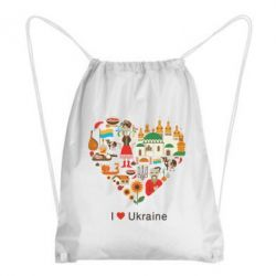 Рюкзак-мешок Love Ukraine Hurt