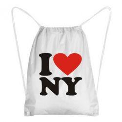 Рюкзак-мішок Люблю Нью Йорк - FatLine