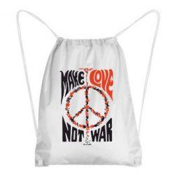 Рюкзак-мішок Make love, not war