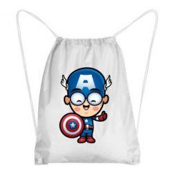 Рюкзак-мешок Маленький Капитан Америка - FatLine