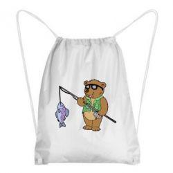 Рюкзак-мешок Медведь ловит рыбу - FatLine