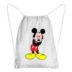 Рюкзак-мешок Микки Маус стесняется - FatLine
