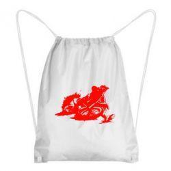 Рюкзак-мешок Мотокросс лого - FatLine