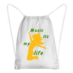 Рюкзак-мешок Music it's my life - FatLine