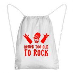 Рюкзак-мешок Never old to rock (Gomer) - FatLine