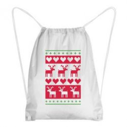 Рюкзак-мешок Новогодние узоры - FatLine