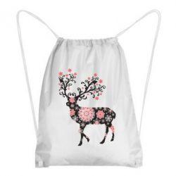 Рюкзак-мешок Олень в снежинках