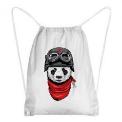Рюкзак-мешок Панда в каске - FatLine