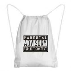 Рюкзак-мешок Parental Advisory - FatLine