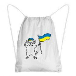 Рюкзак-мешок Пес з прапором - FatLine