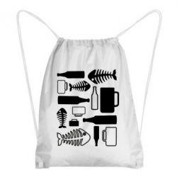 Рюкзак-мешок Пиво и рыбка - FatLine
