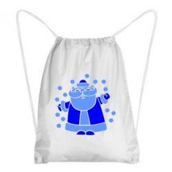 Рюкзак-мешок Прикольный дед мороз - FatLine