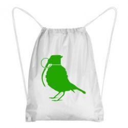 Рюкзак-мешок Птичка с гранатой - FatLine