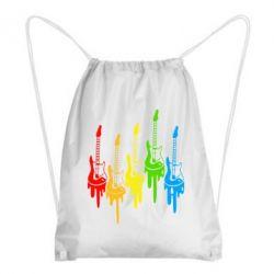 Рюкзак-мешок Разноцветные гитары - FatLine