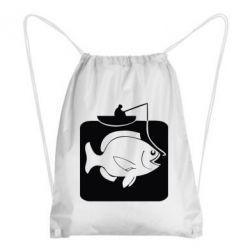 Рюкзак-мешок Рыба на крючке - FatLine