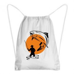 Рюкзак-мешок Рыбак на фоне солнца - FatLine